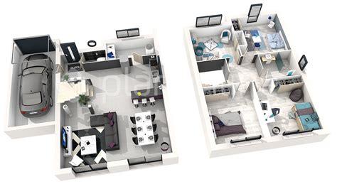 plan de chambre 3d maison exa
