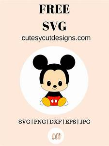 Free Mickey Mouse Templates Baby Mickey Svg Cut Files