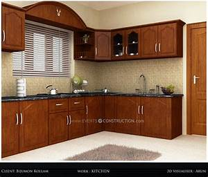 evens construction pvt ltd simple kerala kitchen interior With kerala style kitchen design picture