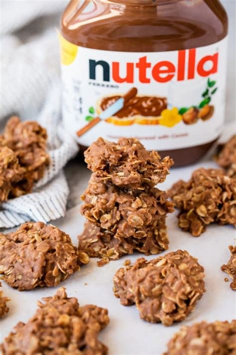 what to bake with nutella peanut butter nutella no bake cookies