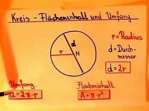 Flächeninhalt Und Umfang Berechnen : kreis fl cheninhalt und umfang berechnen youtube ~ Themetempest.com Abrechnung