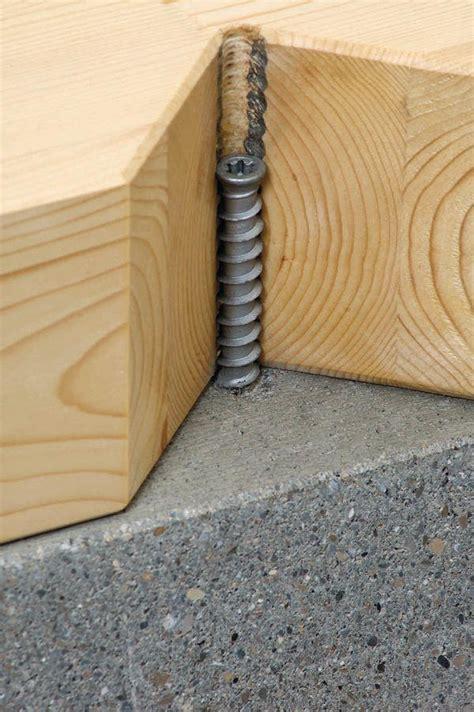 Holz Auf Beton by Befestigung Holz Auf Beton