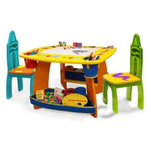 grown up crayola wooden table chair set activity