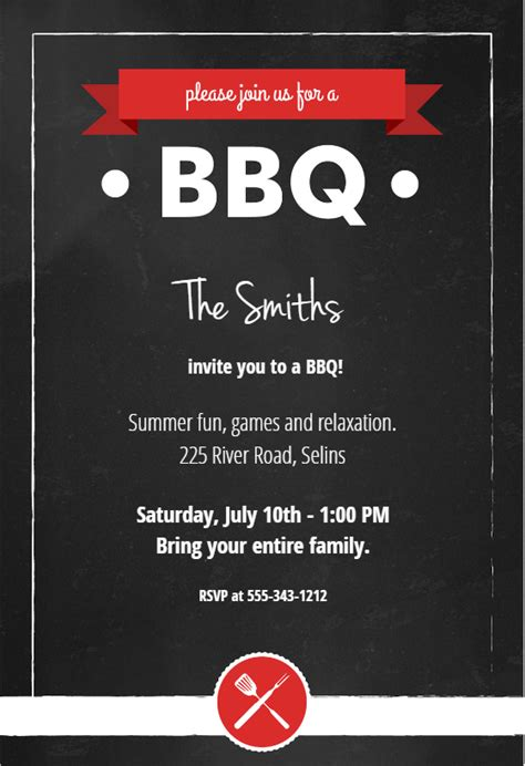 join    bbq bbq party invitation template