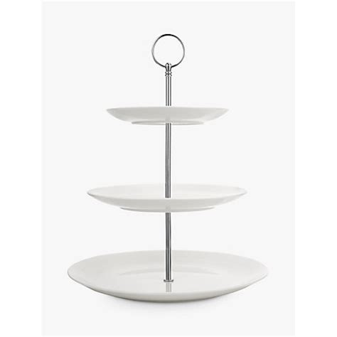 white tiered cake stand platter pleasers plastic cupcakecake stand  piece set white