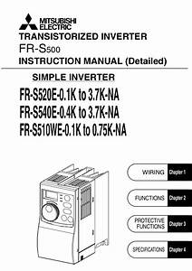 Mitsubishi Vfd S500 Manual