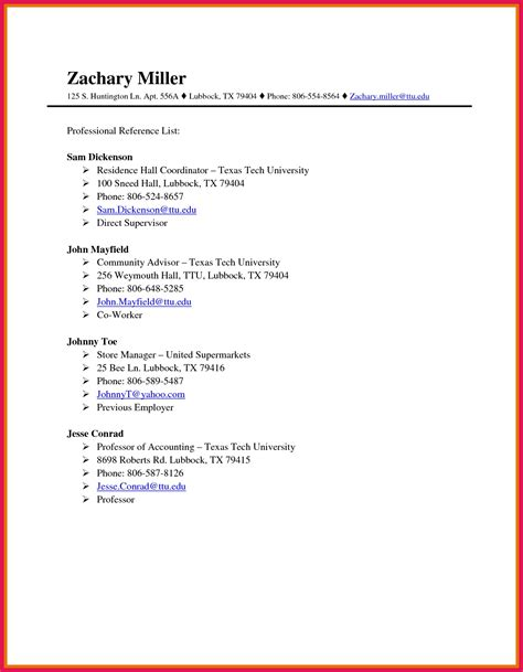 Formatting Resume References by Professional References Format Sop Exles