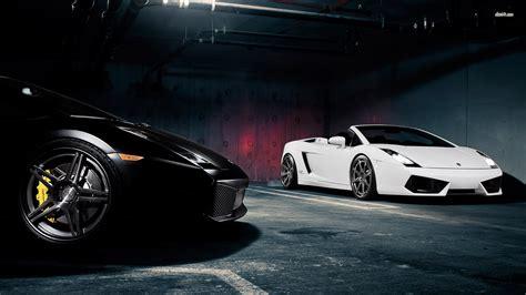 Lamborghini Sports Cars Black And White Hd Wallpaper