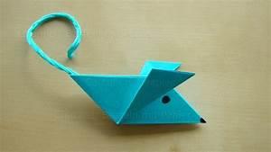 Origami Für Anfänger : origami maus falten einfache maus basteln mit papier ~ A.2002-acura-tl-radio.info Haus und Dekorationen