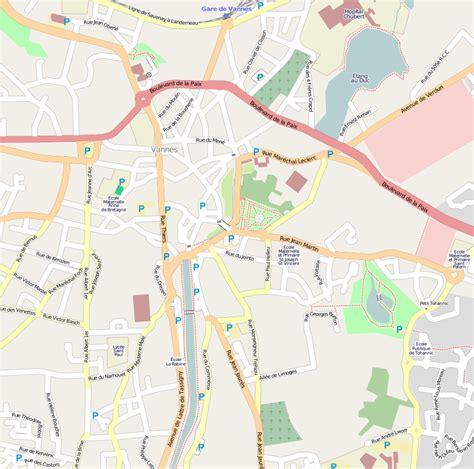 Mairie Ville De Plan De File Plan Du Centre Ville De Vannes Png Wikimedia Commons