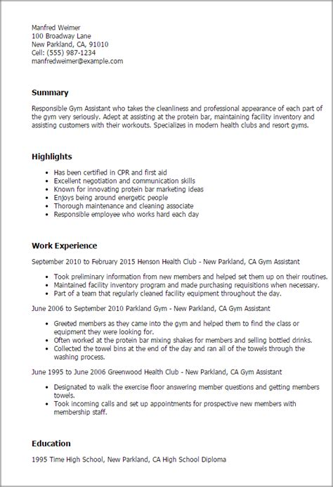 fitness center manager cover letter 1 assistant resume templates try them now