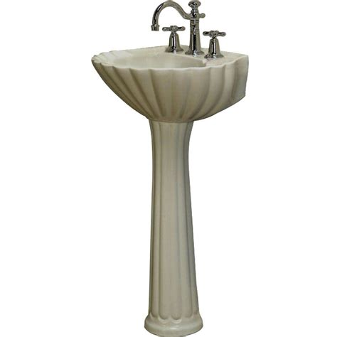 Pedestal Sinks Home Depot by Pegasus Bali 19 In Pedestal Combo Bathroom Sink In Bisque