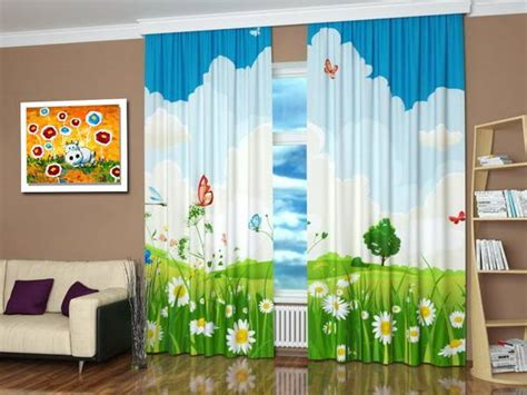 custom photo curtains adding digital prints  kids room
