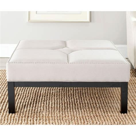 Taupe Ottoman by Safavieh Terrence Taupe Accent Ottoman Mcr4644c The Home