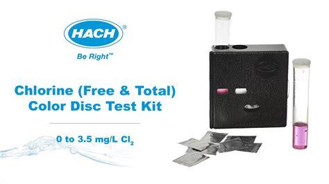 color of chlorine hach free chlorine color disc test kit