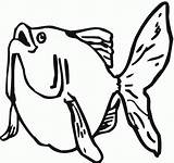 Goldfish Coloring Pages Printable Fish Print Getcoloringpages Cartoon sketch template