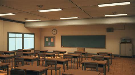 ArtStation - Anime Classroom   Game Assets