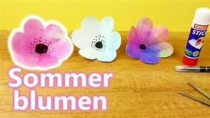 Sommer Basteln Kinder : sommer blumen selber machen basteln mit kindern wundersch ne 3d blumen basteln youtube ~ Orissabook.com Haus und Dekorationen