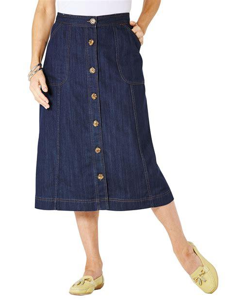 denim trouser denim button through skirt chums