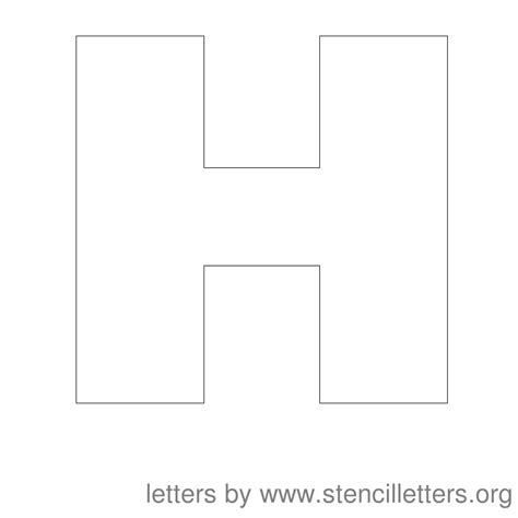 letter h template 9 best images of 4 inch printable block letters 4 inch letter stencils printable free 4 inch
