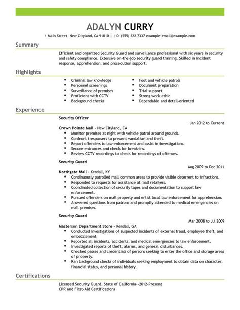 Best Security Guard Resume Example  Livecareer. Ideas To Put On A Resume. Strong Verbs Resume. Strategic Planning Resume Examples. Resume For A Cashier Job. Create My Own Resume. Resume Chronological Format. Samples Of Functional Resumes. Sample Business Development Resumes