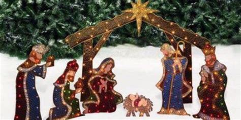 Outdoor Lighted Nativity by Nativity Lighted Outdoor Decoration