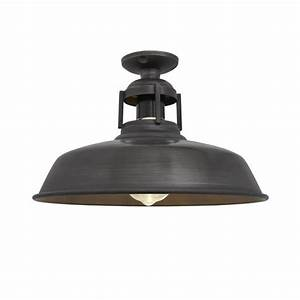 vintage industrial barn slotted flush mount ceiling light With barn style ceiling lights
