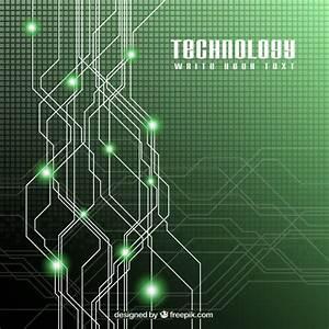 Green technology background Vector | Premium Download