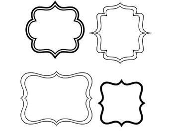 Unlike other graphic files that can be imported & traced into silhouette studio, svg files do not have to be traced! frames svg dxf jpeg png file instant download stencil ...