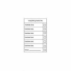 Election ballot template word the best letter sample for Free voting ballot template