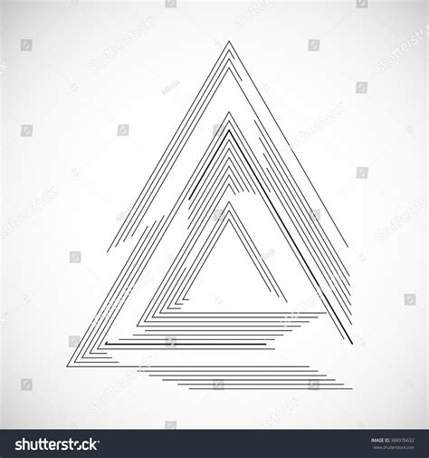 triangular form vector frame triangle form stock vector 388976632
