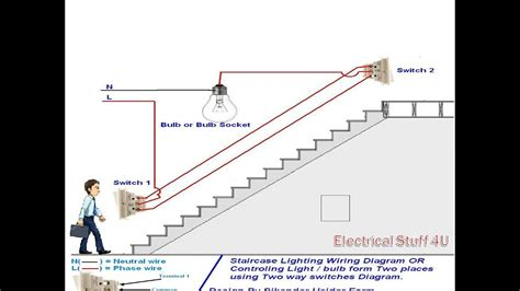 How Make Two Way Switch Stair Case Wiring Connection