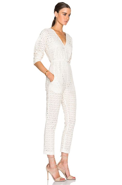 sleeve white jumpsuit comey sleeve glinda jumpsuit in white lyst