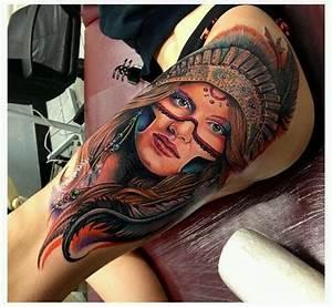 Native American girl tattoo   My Style   Pinterest