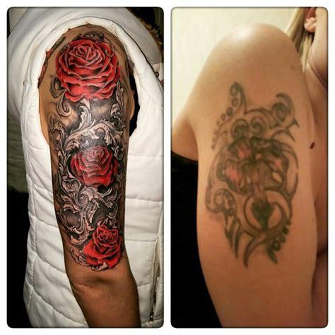 incredible rose bush cover  tattoo design  tattoo