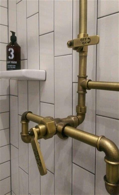 industrial exposed shower  watermark ceramic retro
