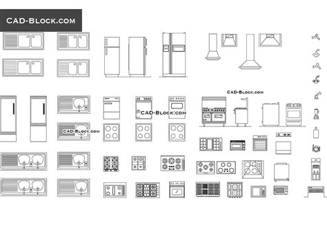 washer dryer cabinets kitchen equipment cad blocks drawings free