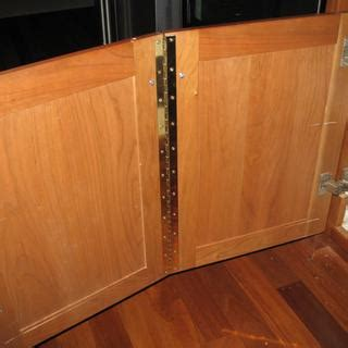 slotted piano hinges  brass finish