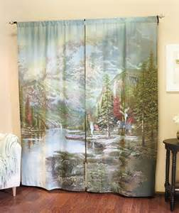new thomas kinkade curtain panel set quot mountain majesty