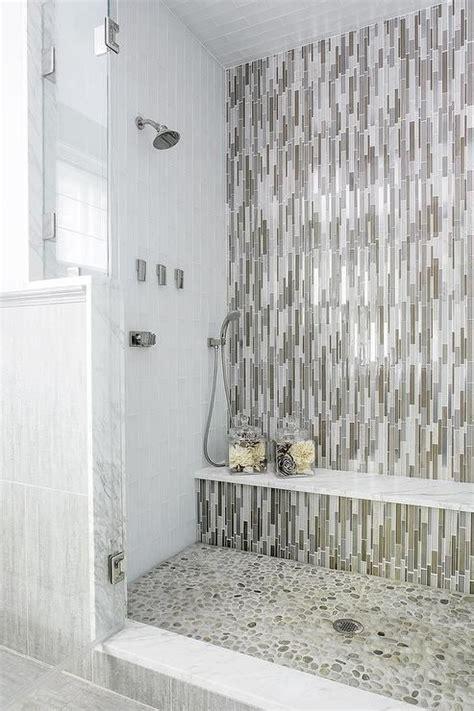fantastic walk  shower boasts  accent wall clad