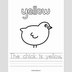 The Chick Is Yellow Worksheet  Twisty Noodle