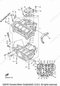 Yamaha Motorcycle 2007 Oem Parts Diagram For Crankcase