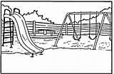 Coloring Park Patio Playground Colorare Giochi Parco Disegni Colorear Disegno Dibujos Printable Sheet Swing Sheets Zabaw Clipart Parque Escuela Parquinho sketch template