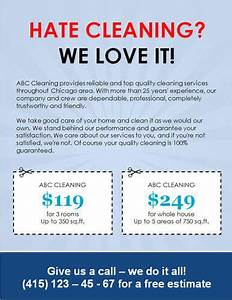 14 free cleaning flyer templates house or business With cleaning company flyers template