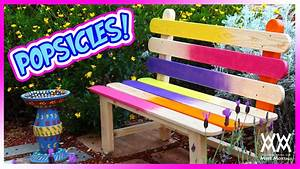 Popsicle Stick Bench Fun and Colorful DIY Project for