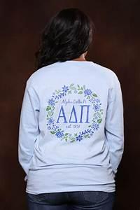 alpha delta pi vine long sleeve adpi letter shirt With adpi letter shirts
