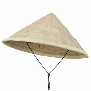 Coolie Hat Asian Conical Japanese Large Straw Bamboo Sun