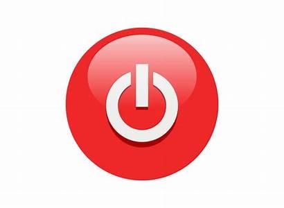 Icon Button Power Transparent Clip Buttons Background