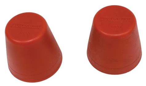 urethane front snubbers pair red early type