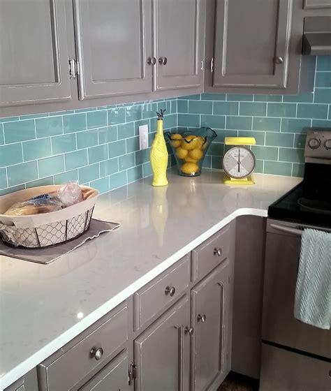 kitchen nice sea glass backsplash  protect  kitchen
